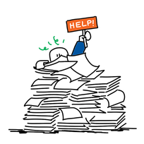 Overbelast papieren werkbonnen