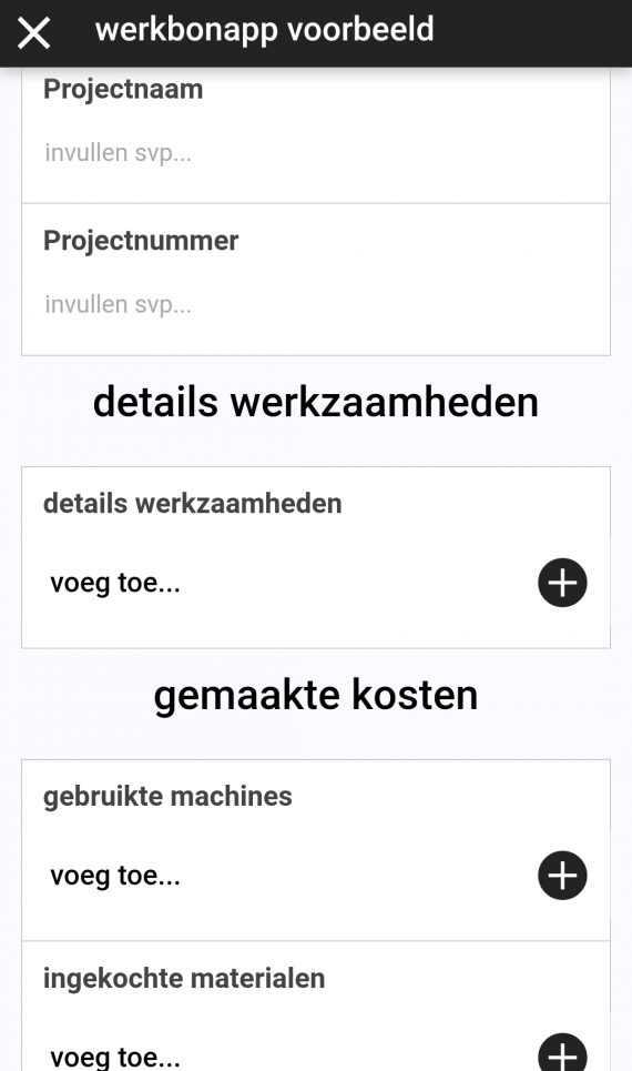 Werkbonapp demo