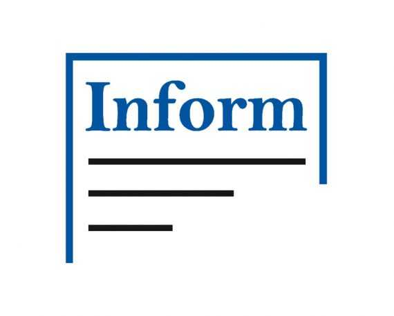 Logo Inform enkel blad juiste kleur met marge