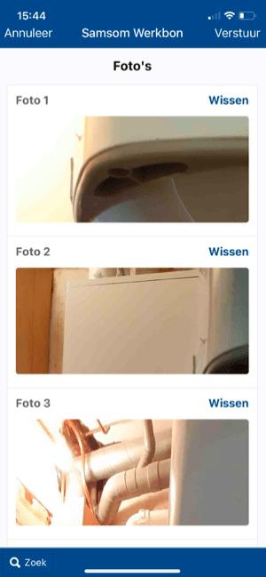 Klant voorbeeld 5 foto's bijvoegen aan werkbon