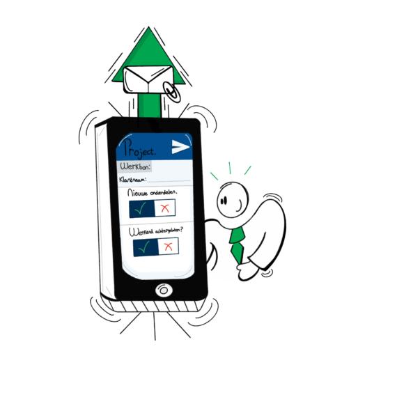 Werkbon pagina - app maakt werkbon